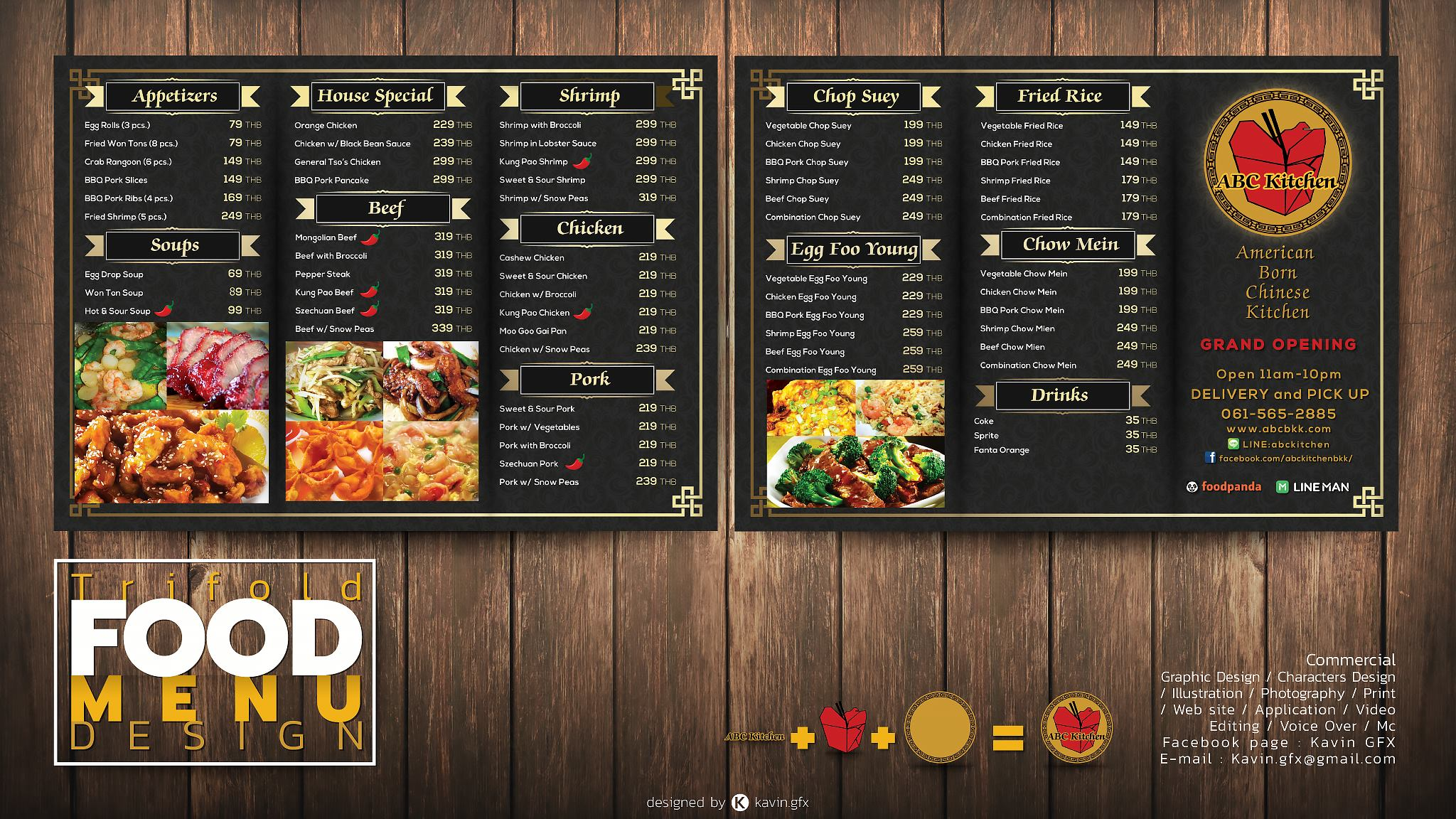 UDON THANI RESTAURANT MENU DESIGN